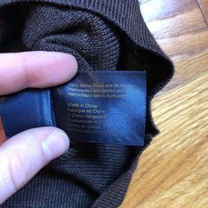 Brooks Brothers Sweaters - Brooks Brothers Brown Merino Wool Cardigan XL